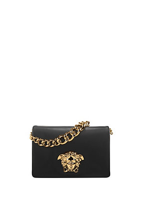 Versace Women Nappa Leather Palazzo Shoulder Bag