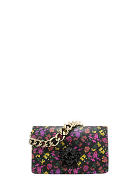 Versace Women Flower Print Palazzo shoulder bag