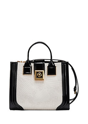 Versace Women Two Tone Icon Handbag