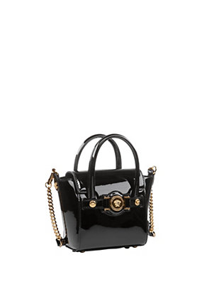Versace Women Patent Mini Signature Bag