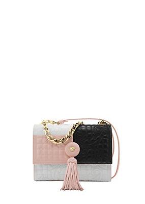 Versace Women Vanitas Small Color Block Bag