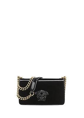 Versace Women Patent Palazzo Flap Chain Bag