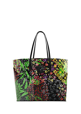 Versace Women Floral Patch print tote bag