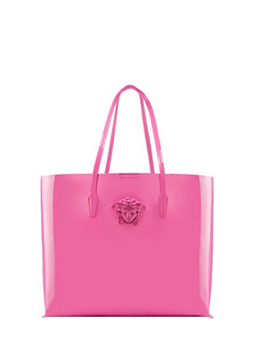 Versace Women Patent leather tote bag