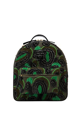 Versace Women Multicolor Dusty Green Backpack