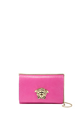 Versace Women Python Palazzo clutch