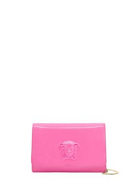 Versace Women Palazzo Patent Clutch