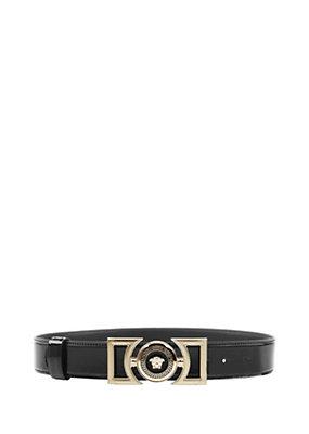 Versace Women Vanitas Patent Leather Belt