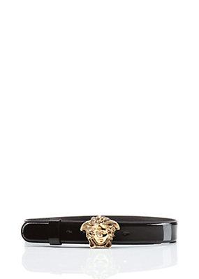 Versace Women Patent Leather Medusa Belt