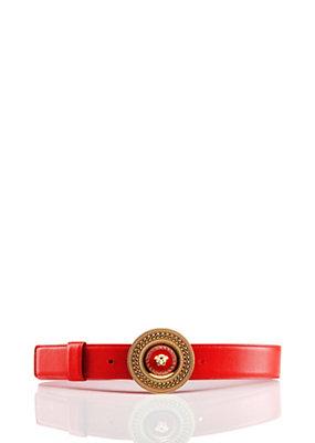 Versace Women Medusa Enamel Leather Belt