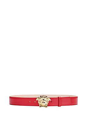 Versace Men Medusa calf leather belt
