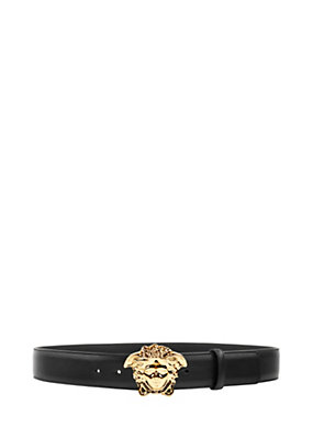 Versace Men Palazzo Belt with Medusa Buckle