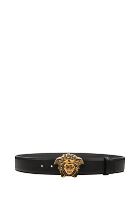 Versace Men Belt with Medusa Head Buckle