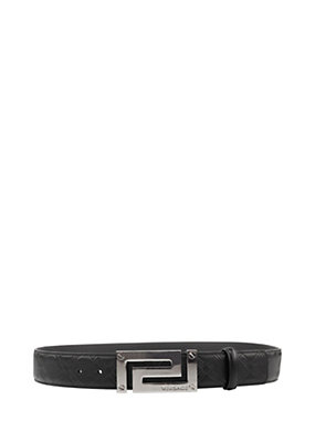 Versace Men Men Greca Leather Belt