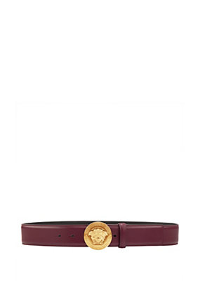 Versace Men Classic Medusa Leather Belt