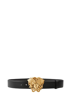 Versace Men Vitello Winged Medusa Belt