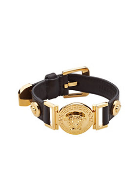 Versace Women Signature Leather Bracelet