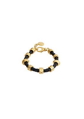 Versace Men Greca Key Leather Bracelet