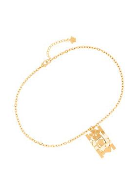 Versace Men Cubic Medusa Bar Pendant Necklace