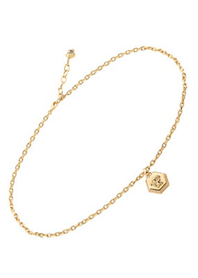 Versace Men Men Hexagonal Medusa Necklace