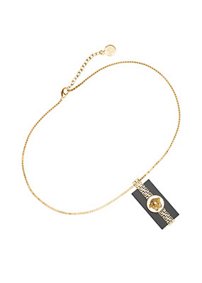 Versace Men Medusa resin pendant necklace