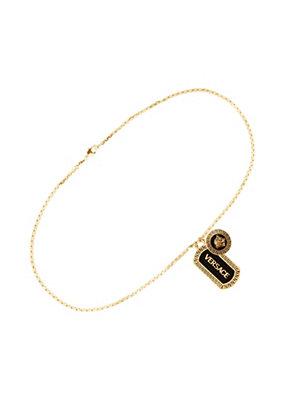 Versace Men Versace Enamelled Charm Necklace