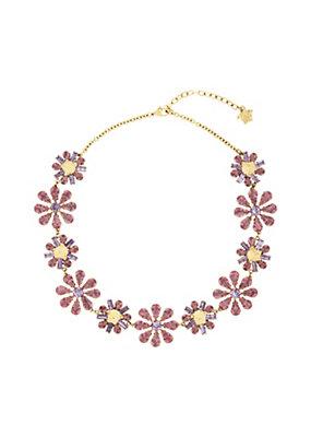 Versace Women Floral Swarovski Necklace