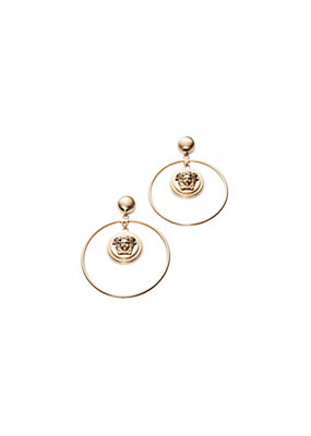 Versace Women Medusa Hoop Earrings