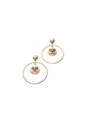Versace Women Medusa Hoop Earrings