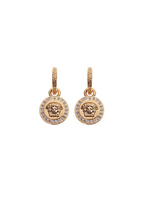 Versace Women Greca and Medusa Drop Earring