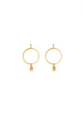 Versace Women Medusa hoop drop earrings