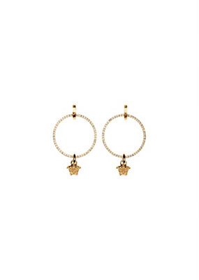 Versace Women Medusa Head Hoop Earrings
