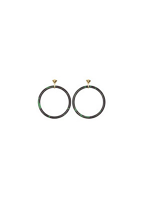 Versace Women Medusa Camouflage Hoop Earrings