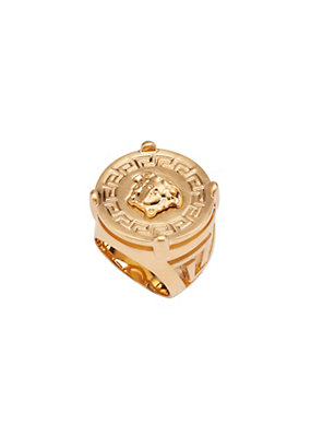Versace Men Rapper Medusa Signet Ring