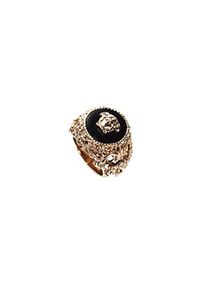 Versace Men Men Round Barocco Ring