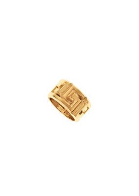 Versace Men #Greek Gold Tone Ring