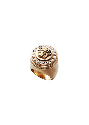 Versace Women Icon Glossy Crystal Ring
