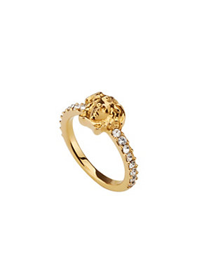 Versace Women Medusa Swarovski Band Ring
