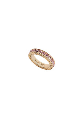 Versace Women Crystal Single Band Ring
