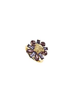 Versace Women Floral Swarovski Ring