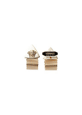 Versace Men Medusa And Mesh Cuff Links
