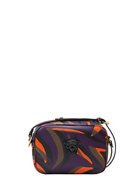 Versace Women Zebra Print Leather Pouch