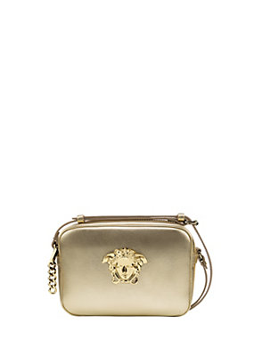 Versace Women Laminated Leather Palazzo Bag