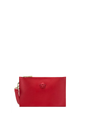 Versace Women Palazzo Leather Pouch