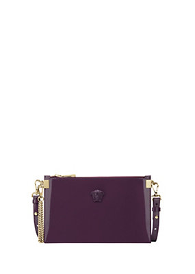 Versace Women Palazzo Patent Leather Pouch