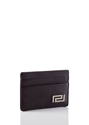 Versace Men Greca Credit Card Case