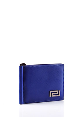 Versace Men Greca Wallet With Money Clip