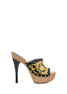 Versace Women Barocco Clog Sandals