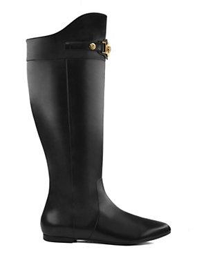 Versace Women Signature Flat Boots