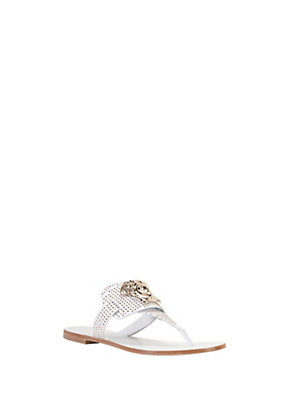 Versace Women Studded Leather Slide-On Sandal